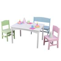 KidKraft Nantucket 4-piece Table, Bench and Chairs Set ...