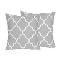 Shop Sweet Jojo Designs Trellis Collection Grey and White ...