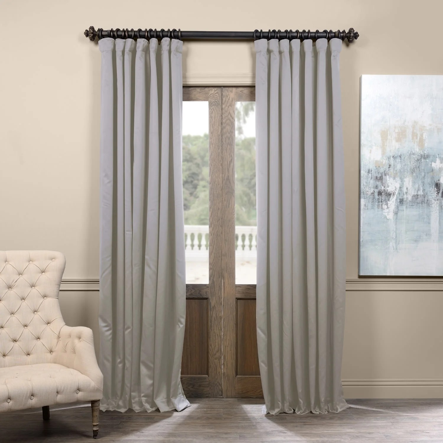 108 Inch Curtain Panels Details About Exclusive Fabrics Extra Wide Thermal Blackout 108 Inch Curtain Panel 100 X 108