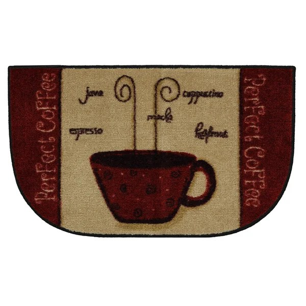 Perfect Coffee Cranberry Slice Kitchen Rug 1396 X 2396