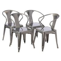 Shop Tabouret Gunmetal Tabouret Stacking Chair (Set of 4 ...