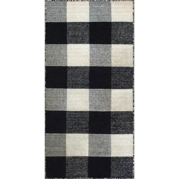 Shop Royal Black/White Rug - 2\u0027 x 4\u0027 - Free Shipping On Orders Over