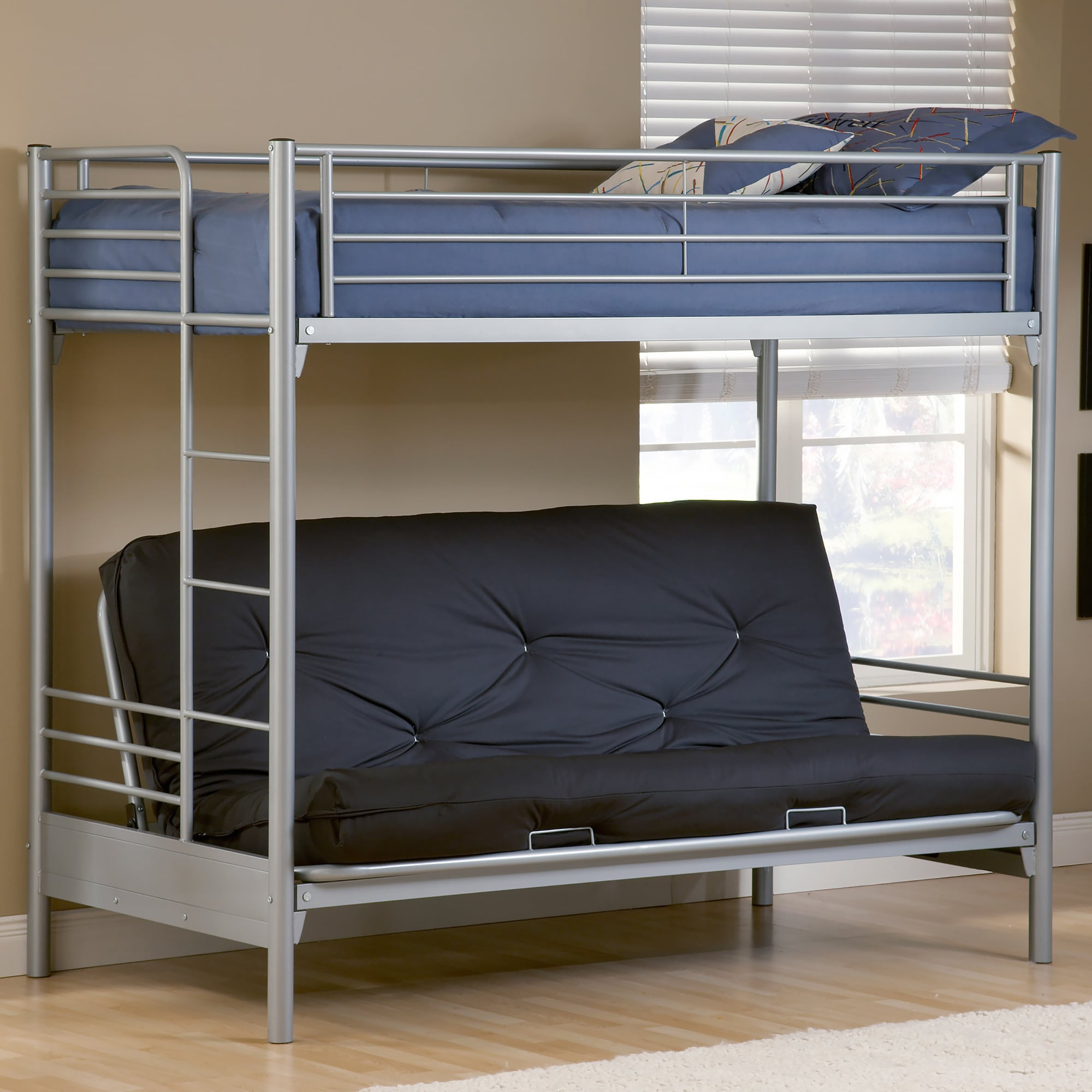 Iron Beds Australia Brayden Twin Over Full Futon Bunk Bed Overstock Shopping