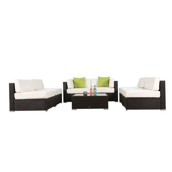 BroyerK 7-piece Outdoor Rattan Patio Furniture Set - Free Shipping - 7 piece living room set