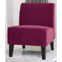 Gold Sparrow Plano Purple Fabric Accent Chair - 17078086 ...