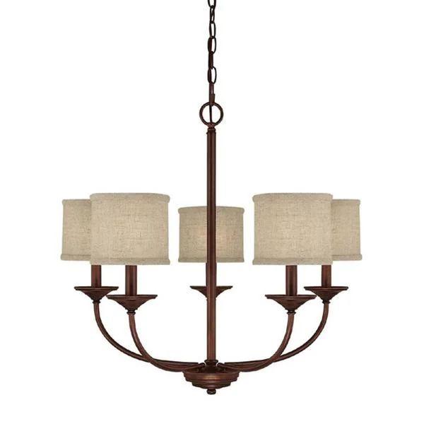 Capital lighting loft collection 5 light burnished bronze