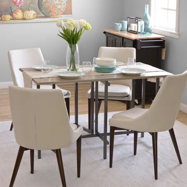 Convertible wood dining table grey free shipping today overstock