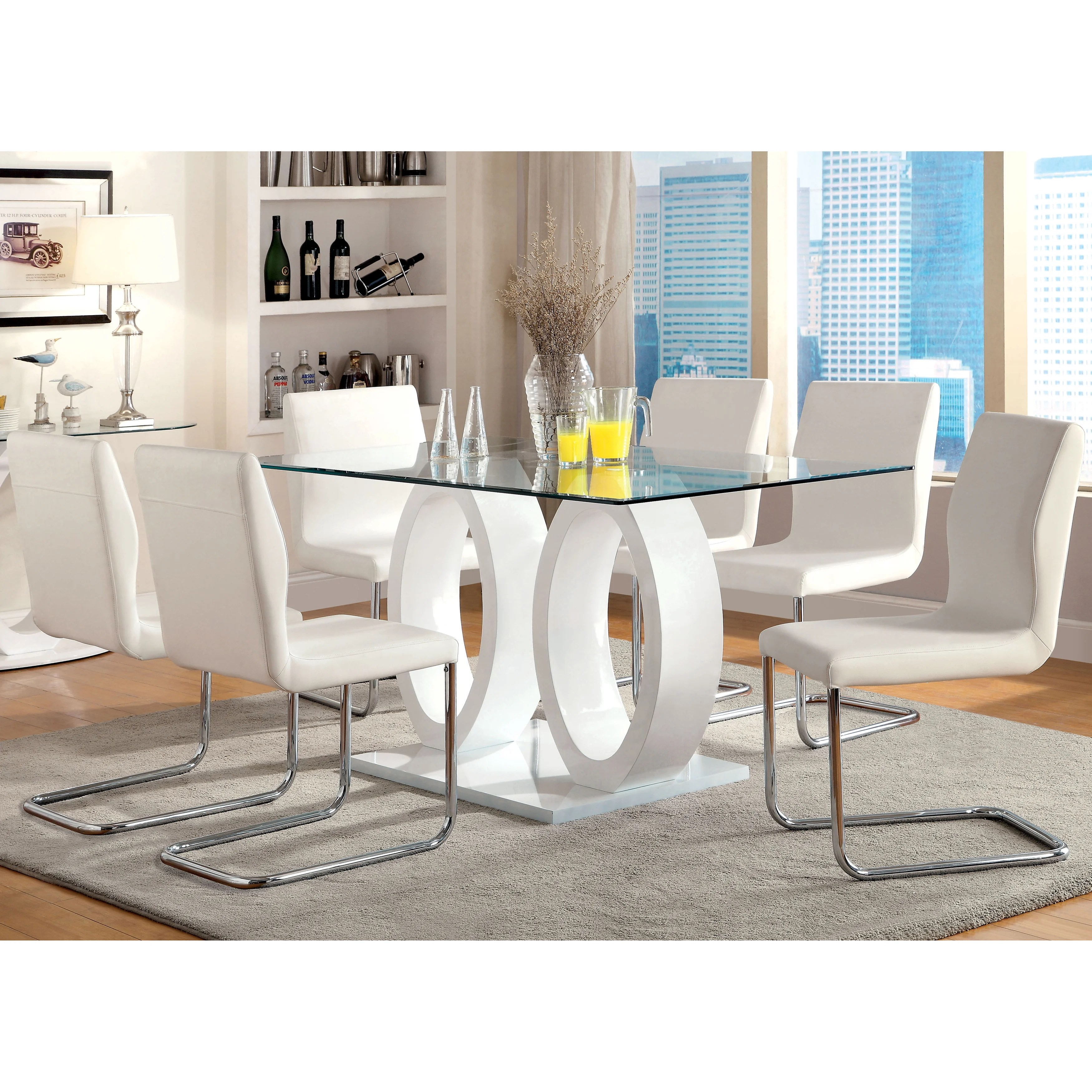 Furniture Of America Raji Contemporary 63 Inch Wood Dining Table