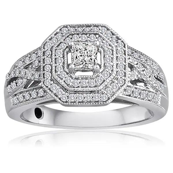 Shop Platinaire 1/2ct TDW Diamond Engagement Ring