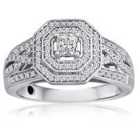 Shop Platinaire 1/2ct TDW Diamond Engagement Ring
