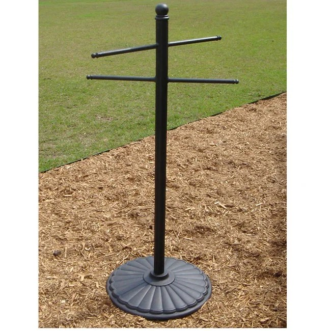 Bronze Cast Aluminum Outdoor Towel Stand Rack Free