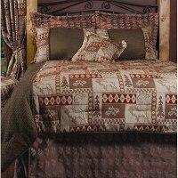 King-size 7-piece Elk Patchwork Comforter Set - 11765143 ...