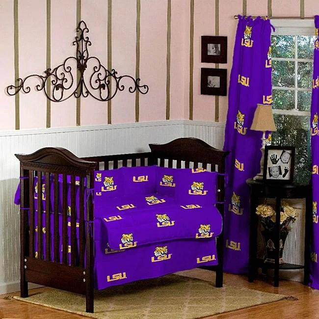 Infant Baby Products Online Shopping Lsu 5 Piece Crib Bedding Set Overstock™ Shopping Big