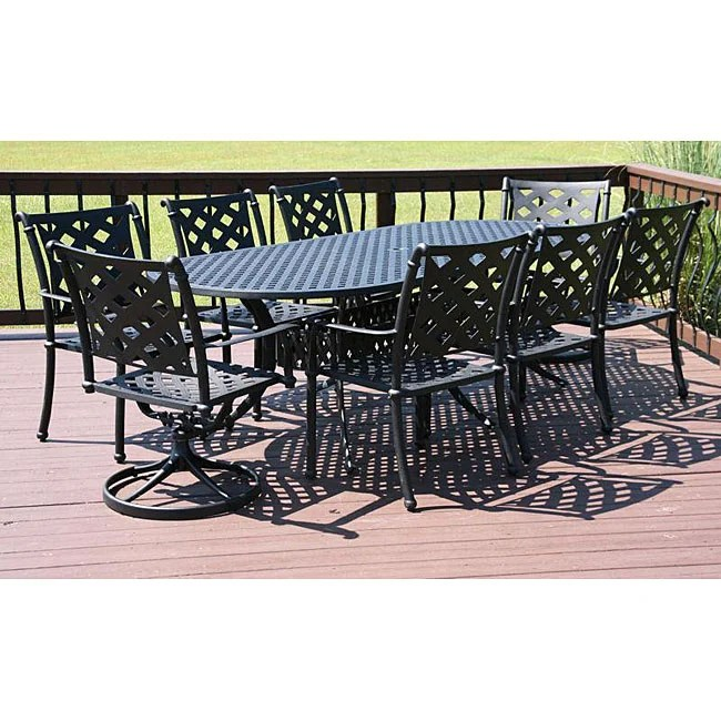 Savannah Outdoor Classics Melbourne 9 Piece Welded Patio - Outdoor Dining Furniture Clearance Melbourne