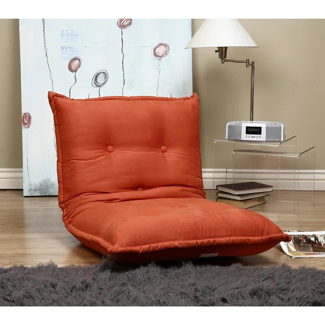 Button Tufted Flame Reclining Floor Cushion Free