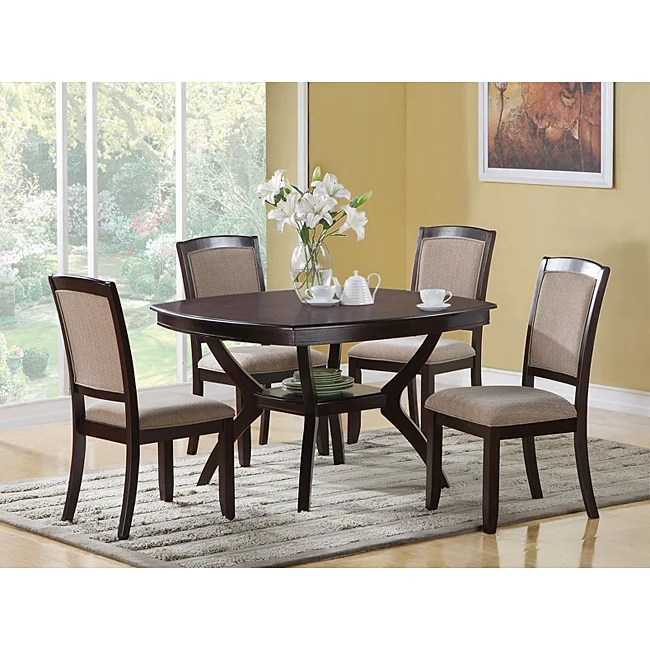 Cappuccino Ash 48 X 48 Veneer Dining Table Free Shipping