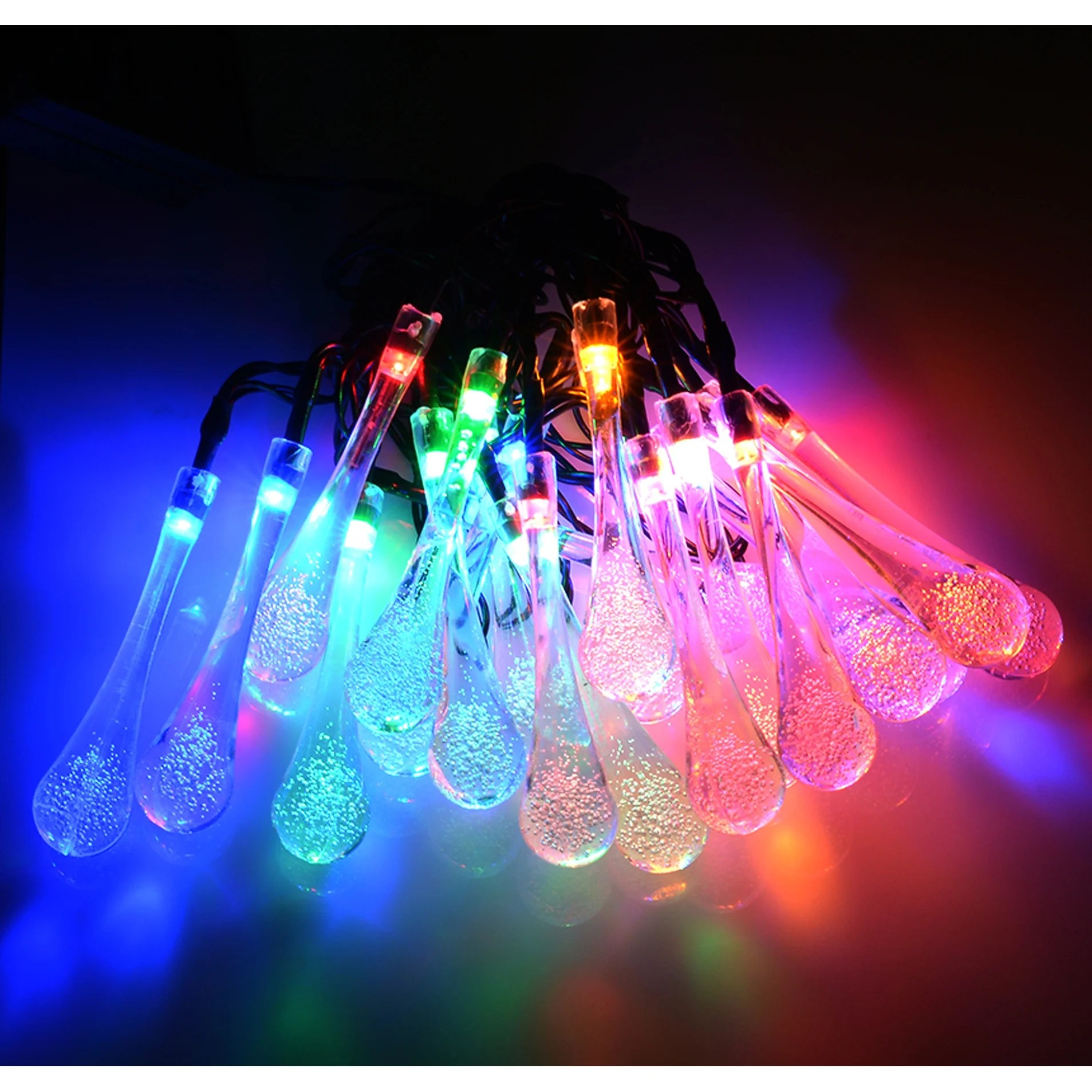 Patio Lights Solar Garden Lights String Fairy 20 Colour Led Rain Drop Weatherproof Outdoor Garden Patio Itkart Org