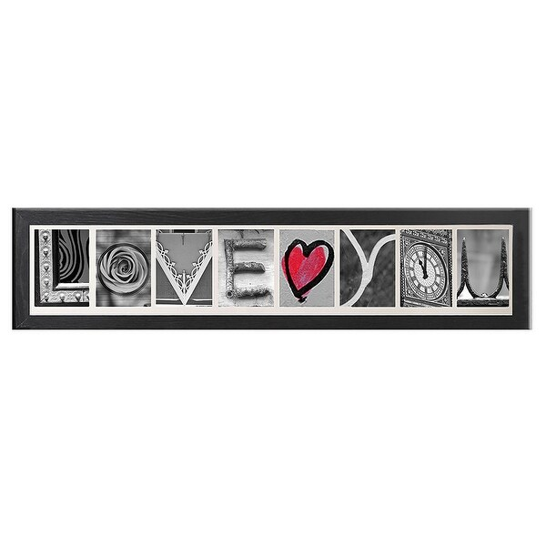 Shop Creative Personalized Imagine Letter Art Frame with 4x6 inch