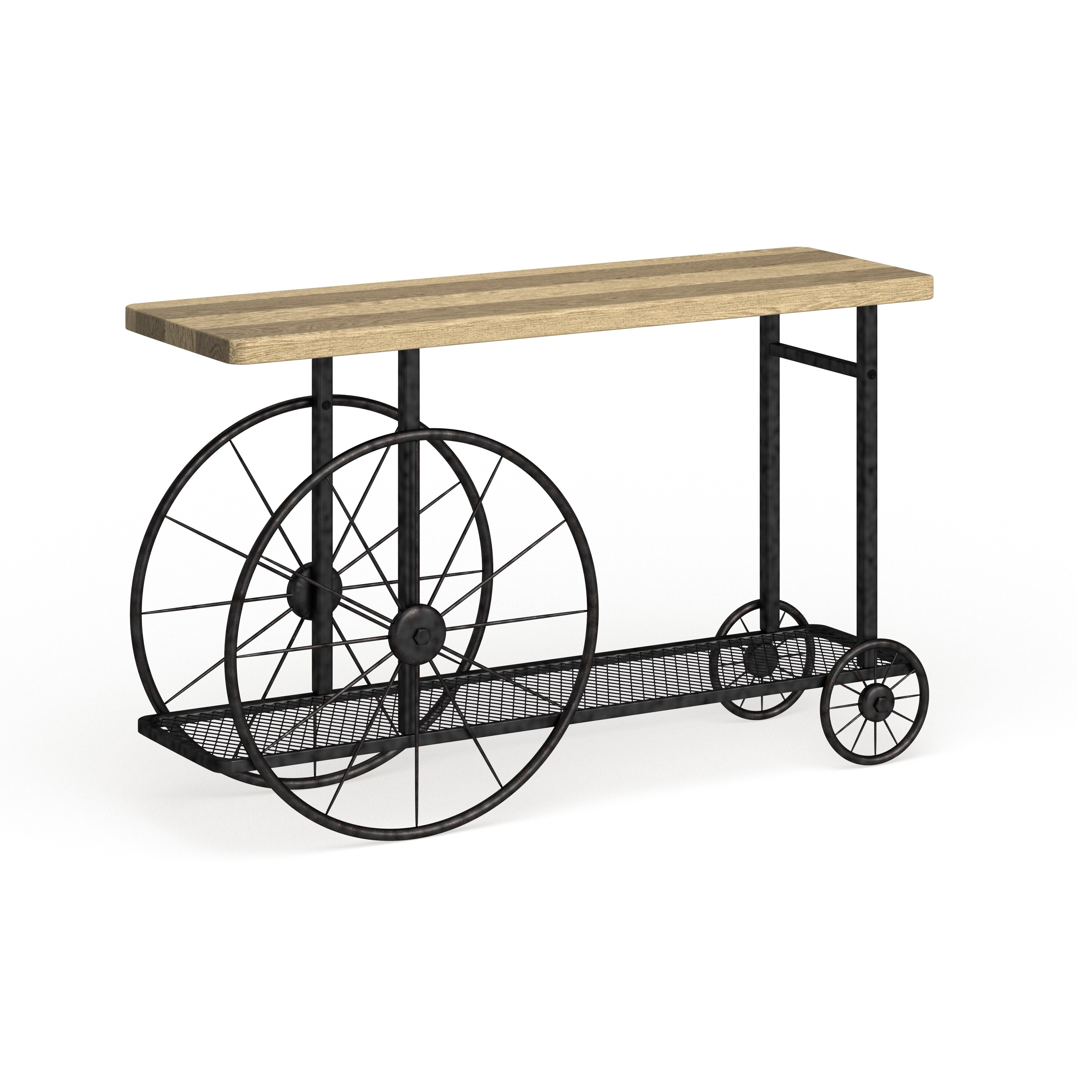 Furniture Of America Sall Industrial Black Metal Wheeled Sofa Table On Sale Overstock 14400023