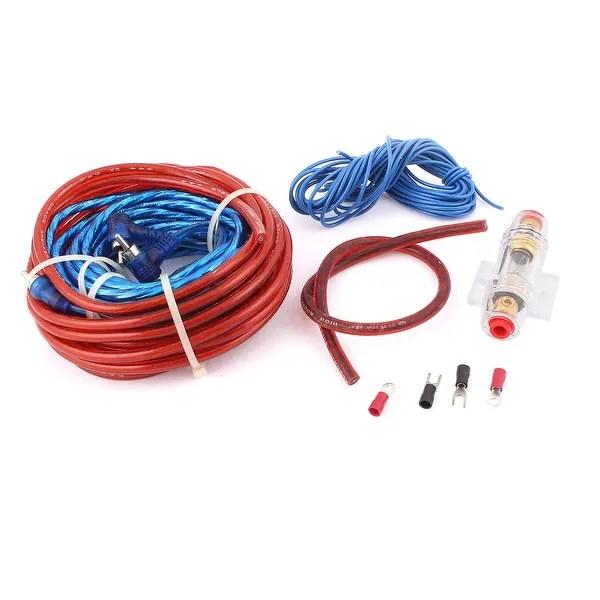 Shop Unique Bargains 5 in 1 Vehicle Car Audio Battery Copper Cable