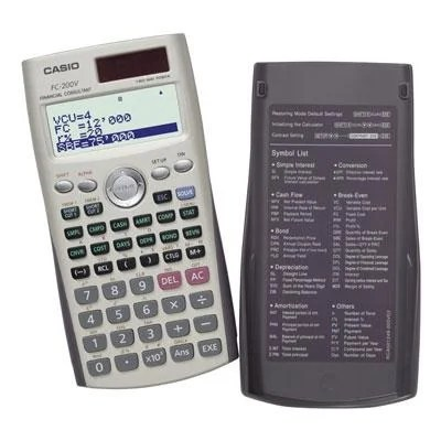Casio Fc-200V-S-Ih 4-Line Display Financial Calculator With Direct - financial calculator