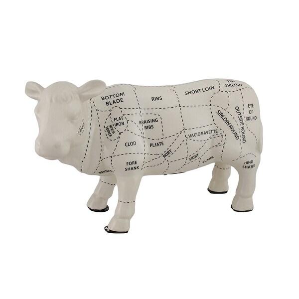 Shop White Cow Shaped Ceramic Coin Bank Butcher Chart Piggy Bank 8