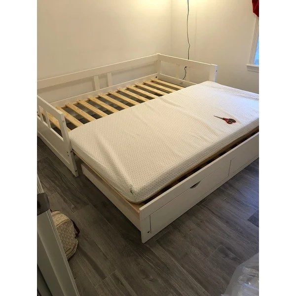 Black Twin Bed Frame Trundle Bed Converts To King | Zorginnovisie