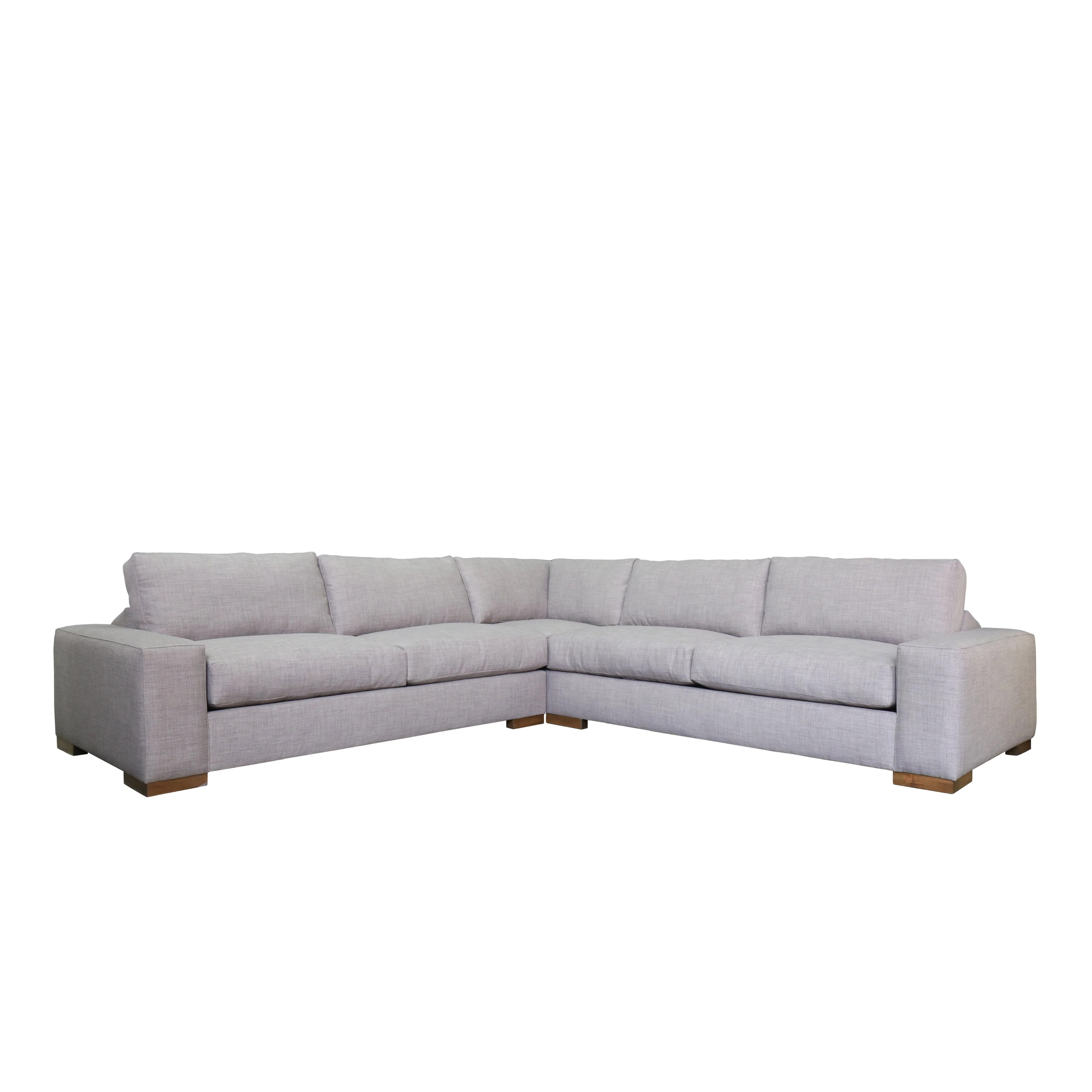 Wilson Modern Sectional Sofa With Feather And Down On Sale Overstock 14595061