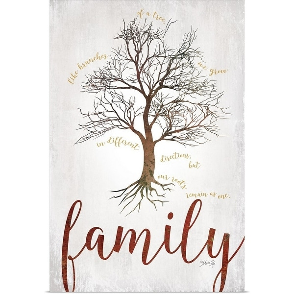 Shop Marla Rae Poster Print entitled Family Tree - Multi-color
