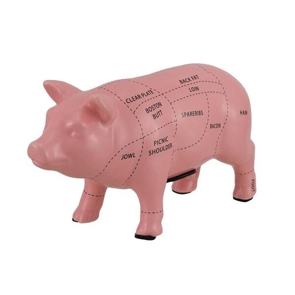 Shop Pink Ceramic Pig Shaped Coin Bank Butcher Chart Piggy Bank 4 in