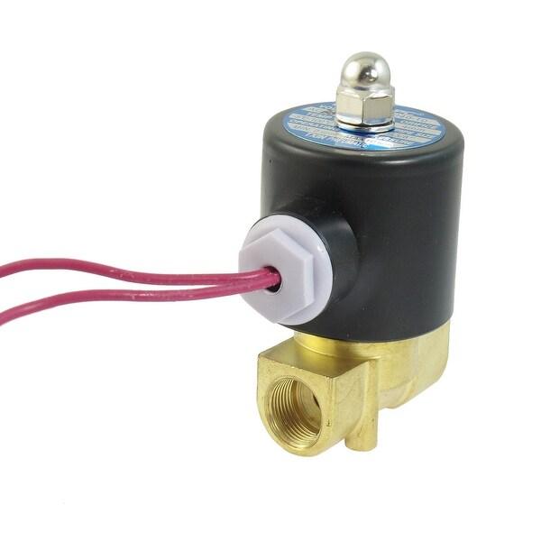 Shop Unique Bargains AC 380V 3/8 PT 2 Way Direct Action Air Gas