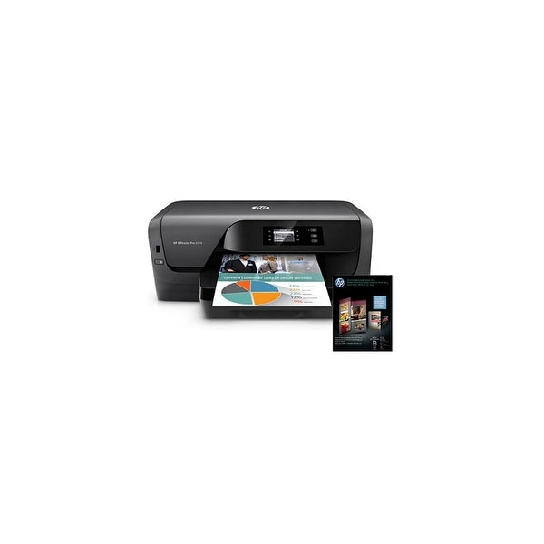 Shop HP OfficeJet Pro 8210 Printer w/ Tri-Fold Brochure Paper