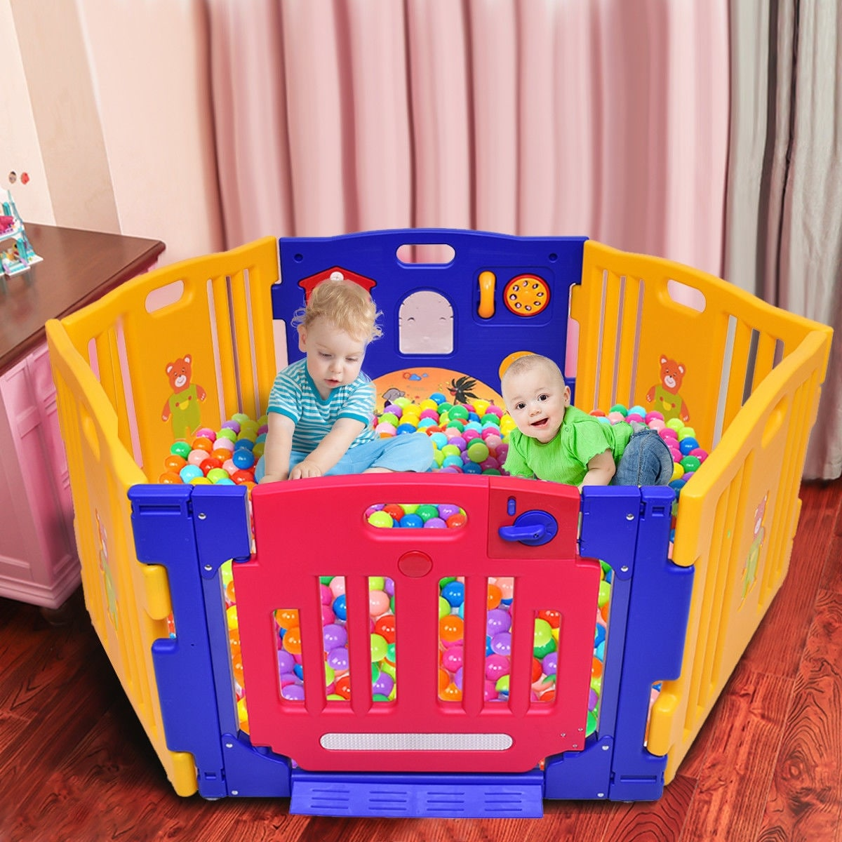 Baby Playpen How Costway 6 Panel Baby Playpen Kids Safety Play Center Yard Home Indoor Outdoor Pen