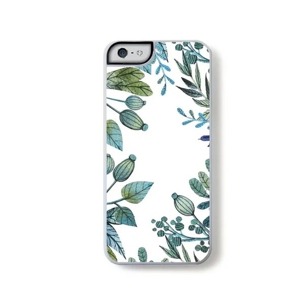 Shop Illustrated botanical green and blue boarder on white for