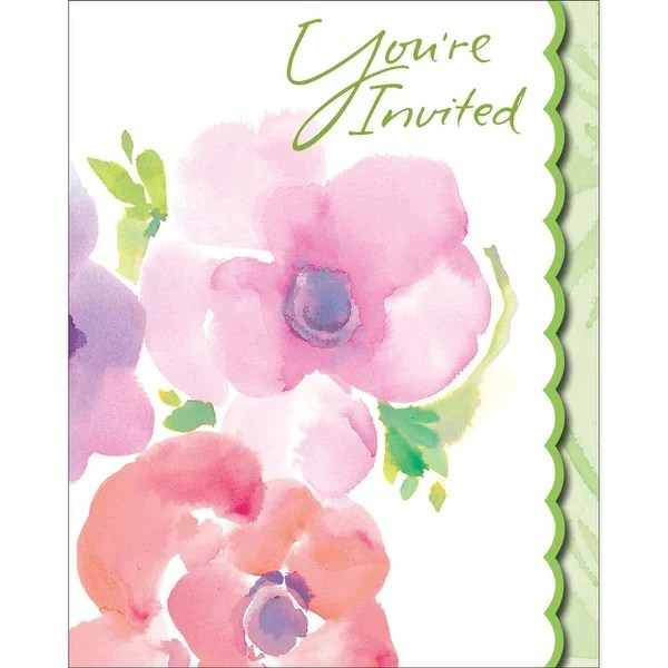 Shop Club Pack of 48 Warm Floral Holiday Party Paper Invitation