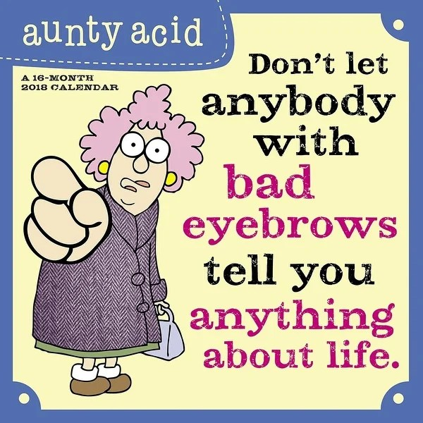 Shop Aunty Acid Wall Calendar, Jokes  Insult by ACCO Brands - Free
