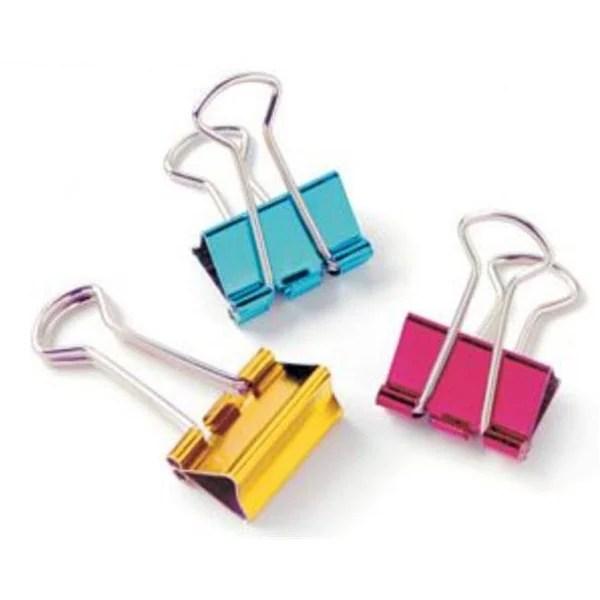 Shop Designer Binder Clips Metallic Small Hexagonal Tub Display of