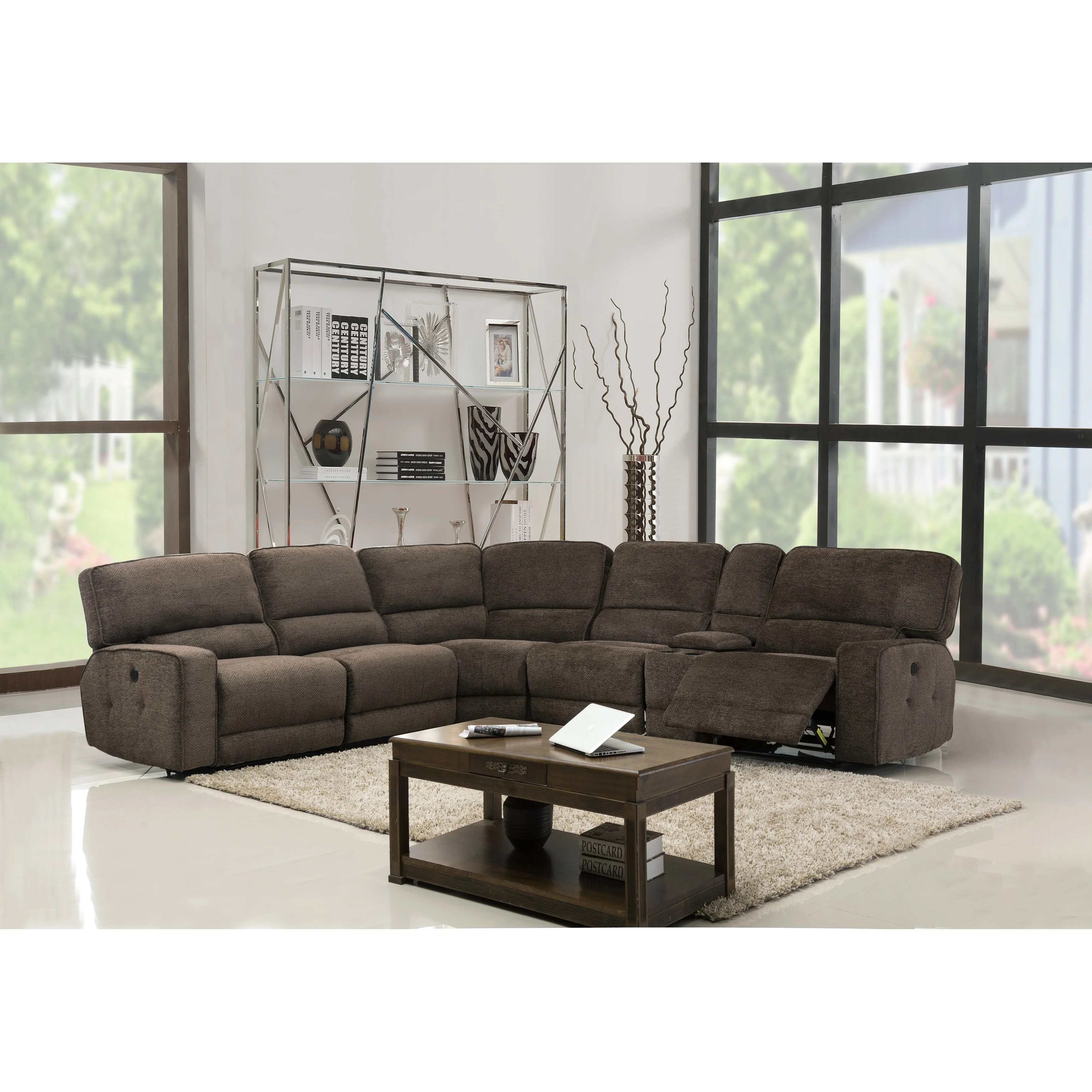 Shop For Gu Industries Chenille Fabric Upholstered Reclining Sectional Sofa Get Free Delivery On Everything At Overstock Your Online Furniture Shop Get 5 In Rewards With Club O 18272661