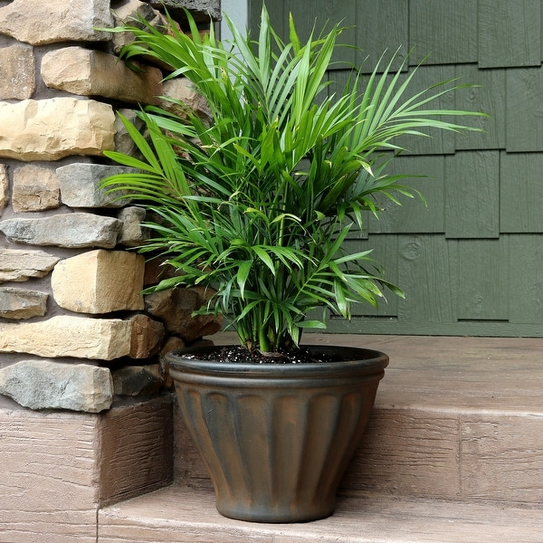 Blumentopf Shop Shop Sunnydaze Charlotte Outdoor Flower Pot Planter - Rust