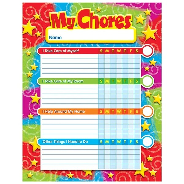 Shop Stars N Swirls Progress Chart - Free Shipping On Orders Over