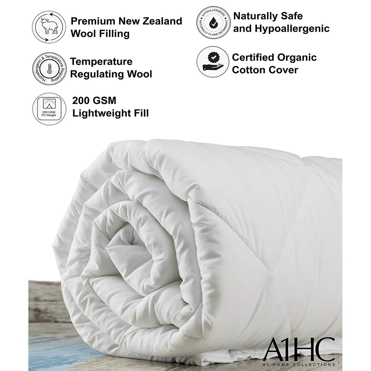 Lightweight Summer Spring 100 New Zealand Wool Fill Duvet Insert On Sale Overstock 29139082