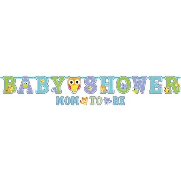 Shop Amscan 121454 Baby Shower Letter Banners - Pack of 12 - Free