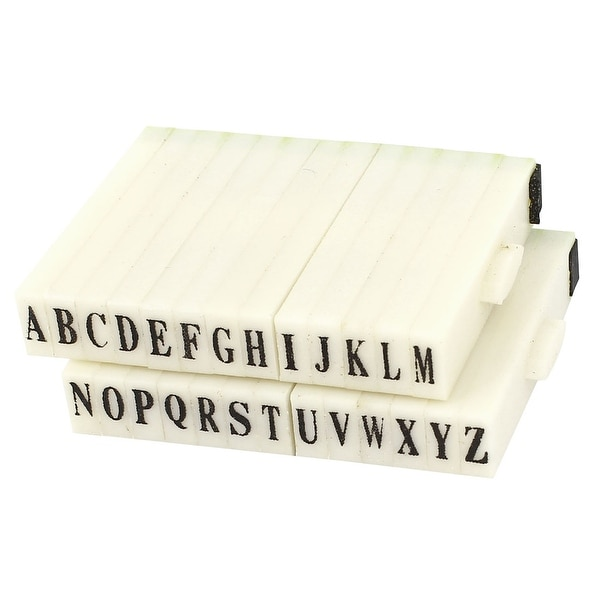 Shop Unique Bargains 26 Letters Plastic Rubber Detachable Alphabet
