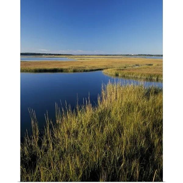 Shop Poster Print entitled Salt marsh, Autumn high tide, Westport