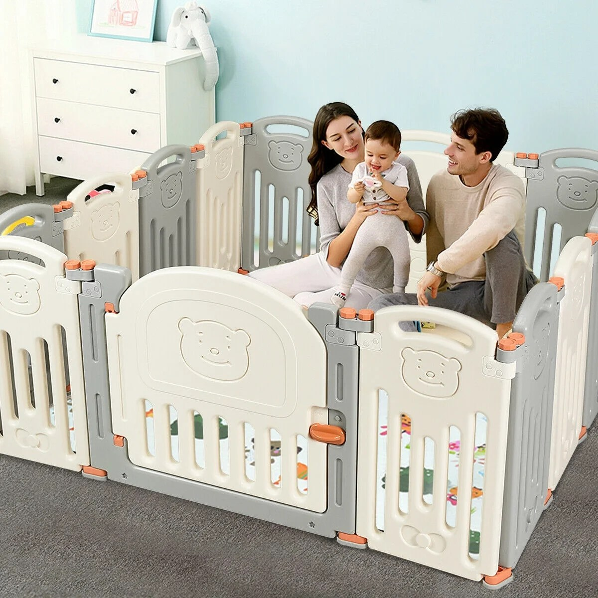 Baby Playpen How Costway 14 Panel Foldable Baby Playpen Kids Activity Center Safety Play Yard W Lock Door
