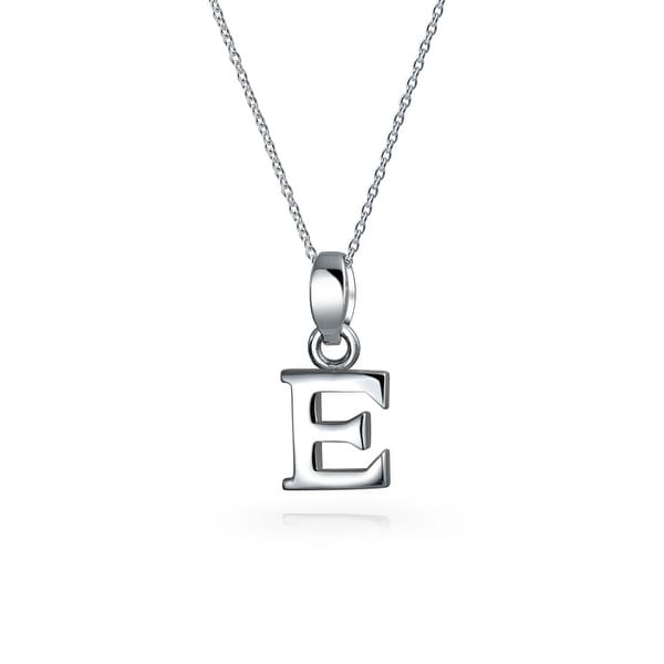 Shop Bling Jewelry Block Letter E 925 Sterling Silver Initial