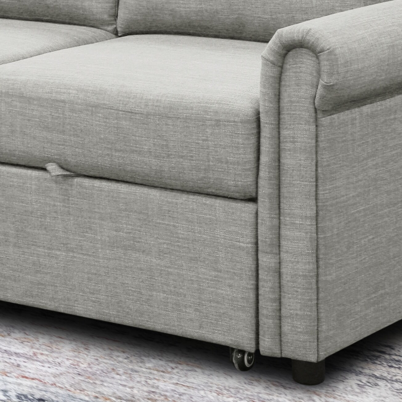 Abbyson Hamilton Storage Sofa Bed And Reversible Sectional