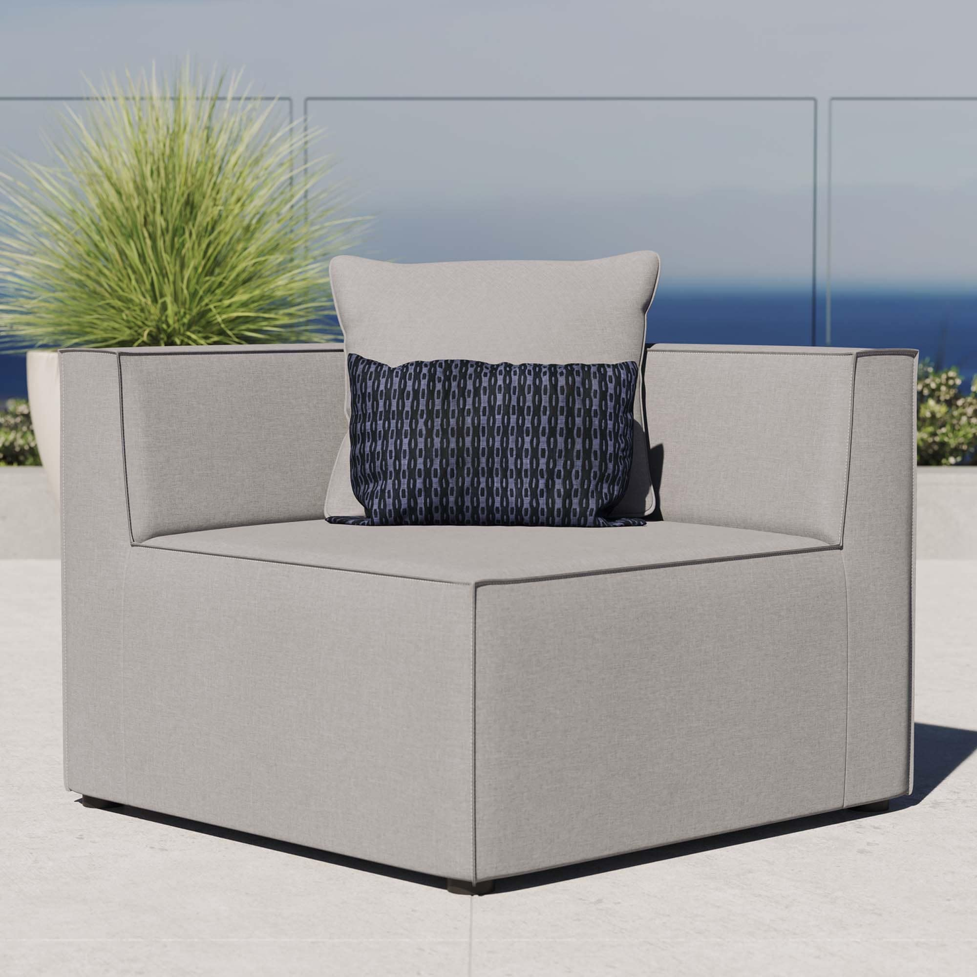 Saybrook Outdoor Patio Upholstered Sectional Sofa Corner Chair Overstock 32383715 Turquoise