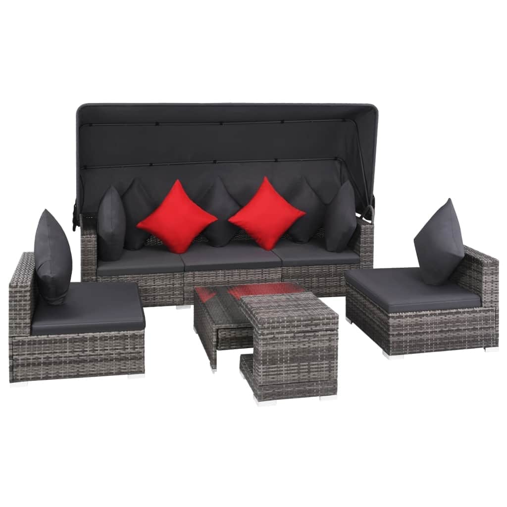 Vidaxl Gartenlounge Polyrattan Couch Lounge With Polyrattan Couch Cool Full