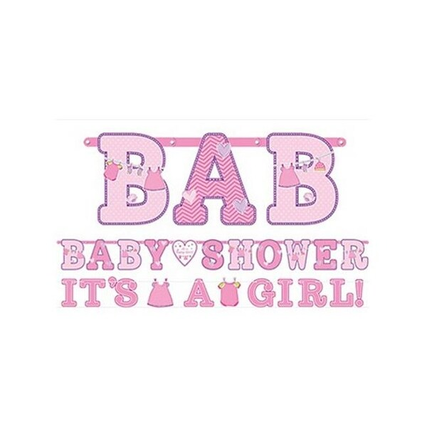 Shop Amscan 121489 Girl Baby Shower Banners - Pack of 12 - Free